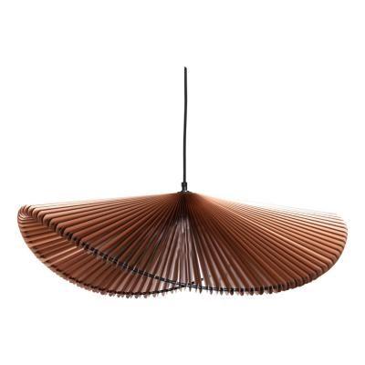 Exkluzív függesztett mennyezeti lámpa, hullámvonalú, barna - ONDES